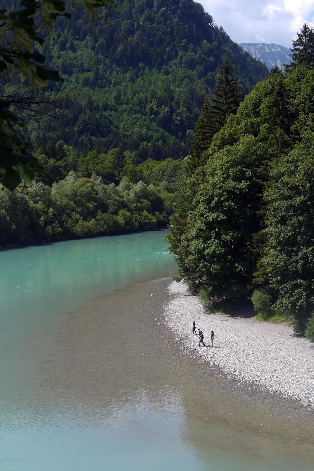 Fussenin joki Baijerissa Saksassa