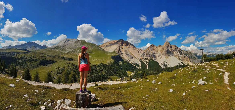 Patikointimaisemat Italian Dolomiiteilla