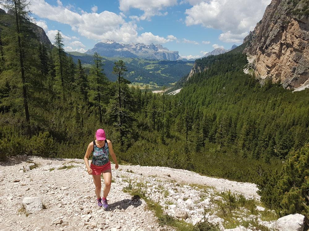 Fanes-Sennes-Braiesin luoononpuistossa Dolomiiteilla