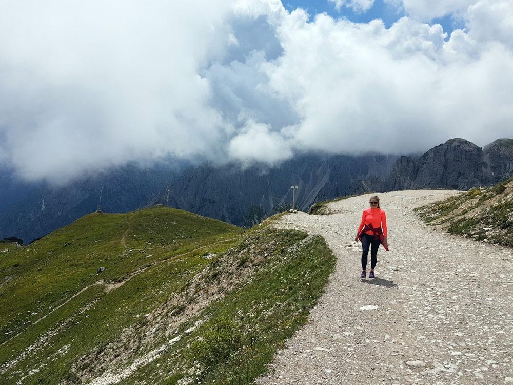 Patikointia Tre Cime di Lavaderolla Dolomiiteilla