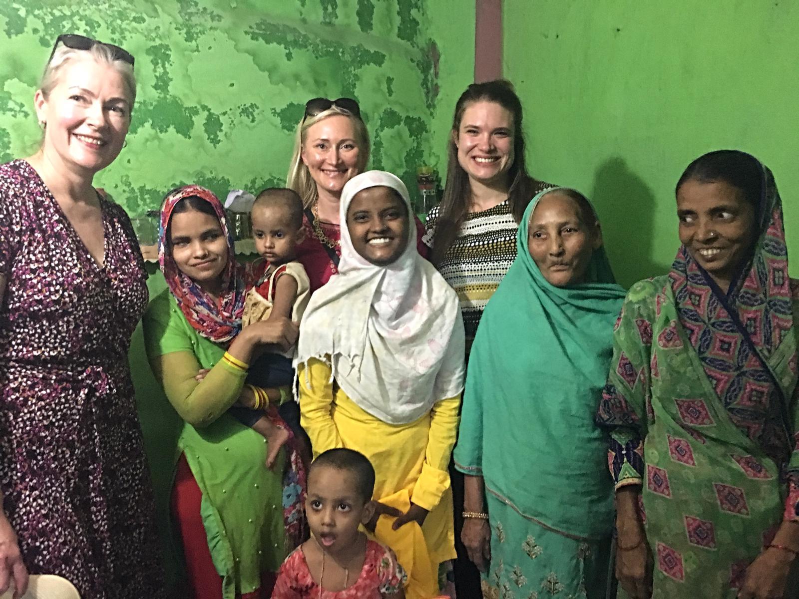 Vierailemassa Intian Indoressa paikallisessa kodissa