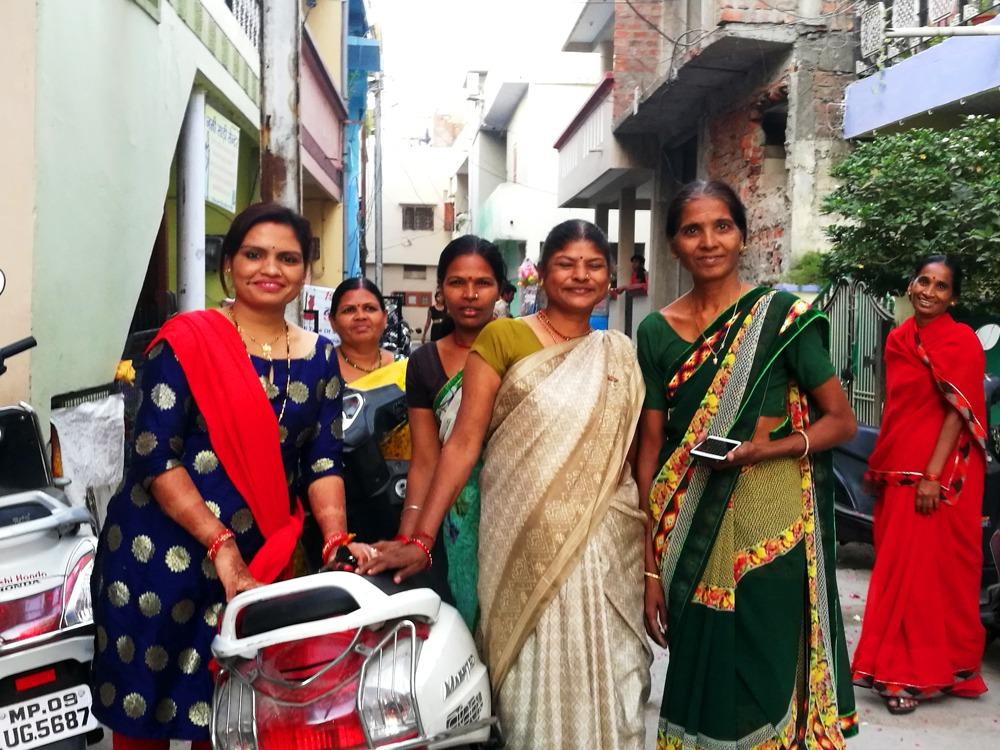 Vahvoja naisia Intian Indoressa