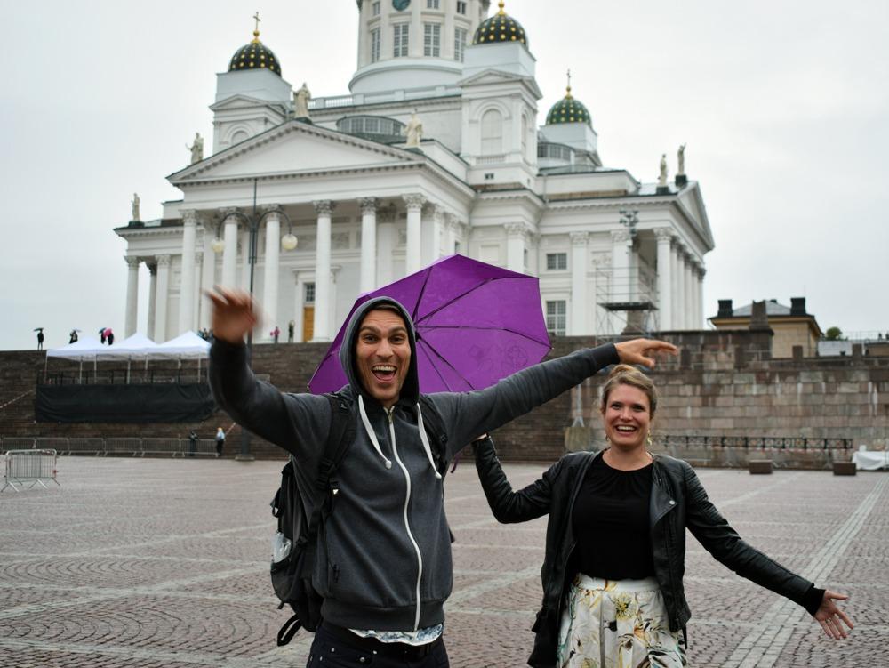 Helsingissä vaihtokaverin kanssa