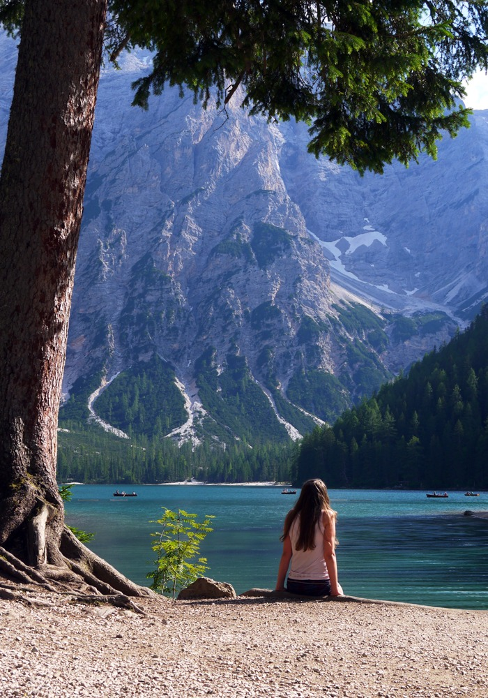 Upea Lago di Braies maisemineen
