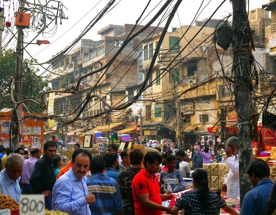 vanhan Delhin markkinakadulta