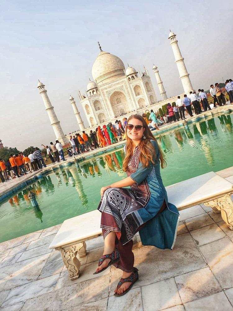 Dianan penkillä Taj Mahalilla