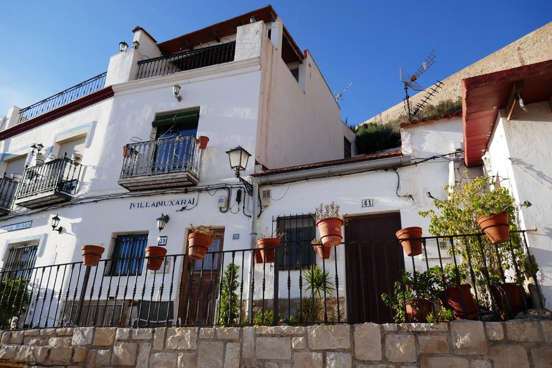 Alicanten vanhankaupungin koteja