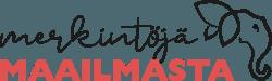 Merkintöjä maailmasta -blogin logo
