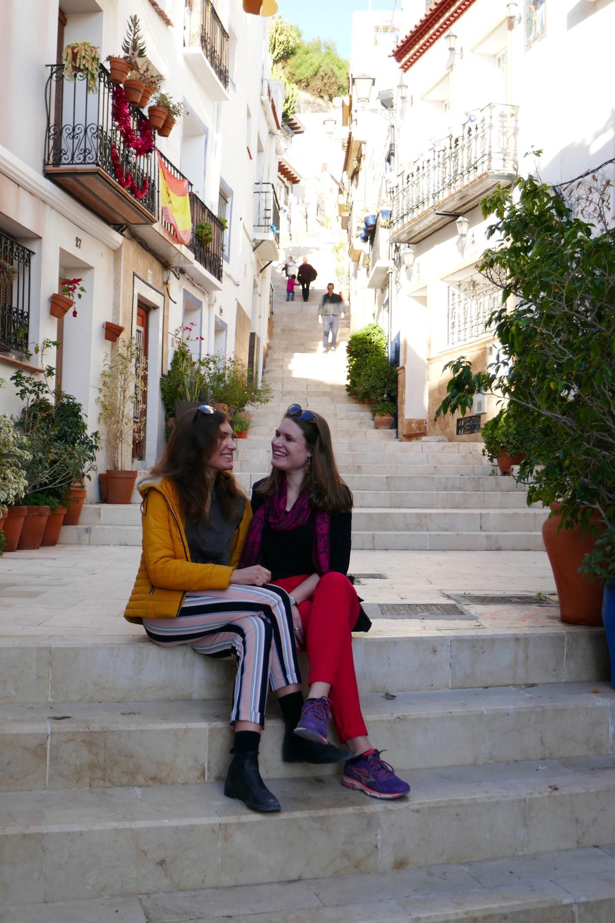 siskokset Alicanten vanhassakaupungissa
