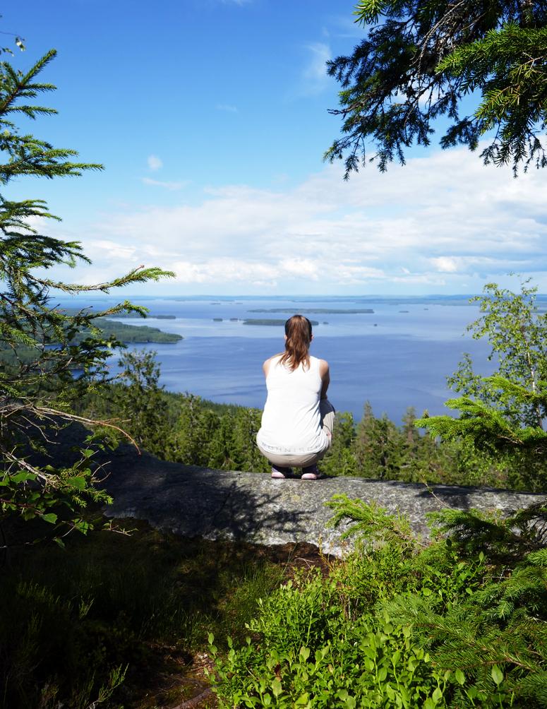 Ukko-Kolin huipulla Kolin kansallispuistossa