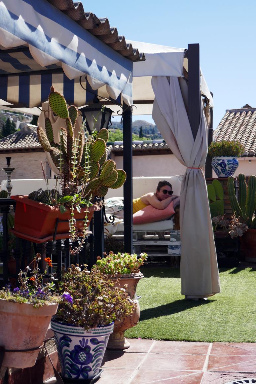 Kattoterassilla Granadassa