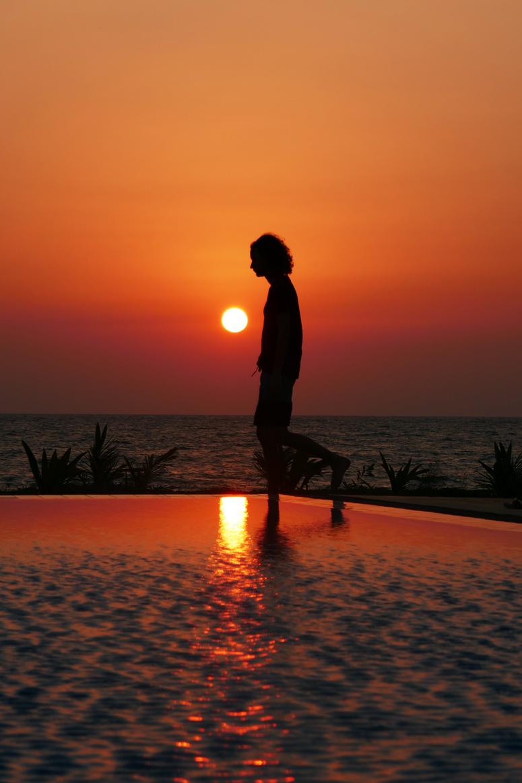 auringonlasku Kalpitiyassa Palagama Beachilla