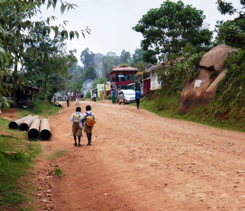 kylä Keniassa