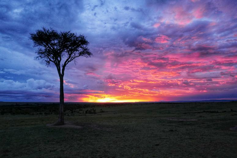 auringonlasku Masai Marassa