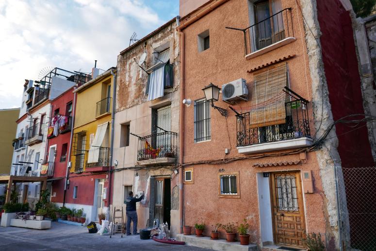 Alicanten vanhan kaupungin rakennuksia kunnostetaan
