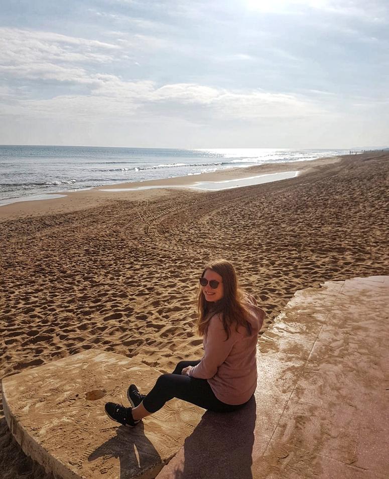 Costa Blancan rannalla Guardamarissa