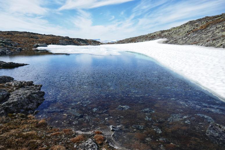Lunta Saanatunturin päällä